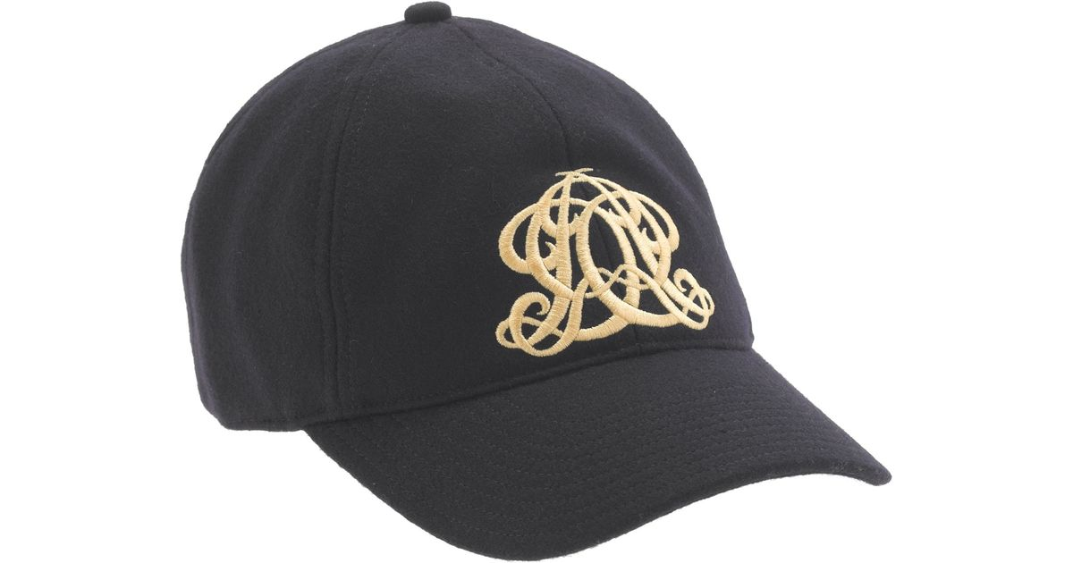 f3b257d1bca6c Lyst - J.Crew Embroidered Emblem Baseball Cap in Blue