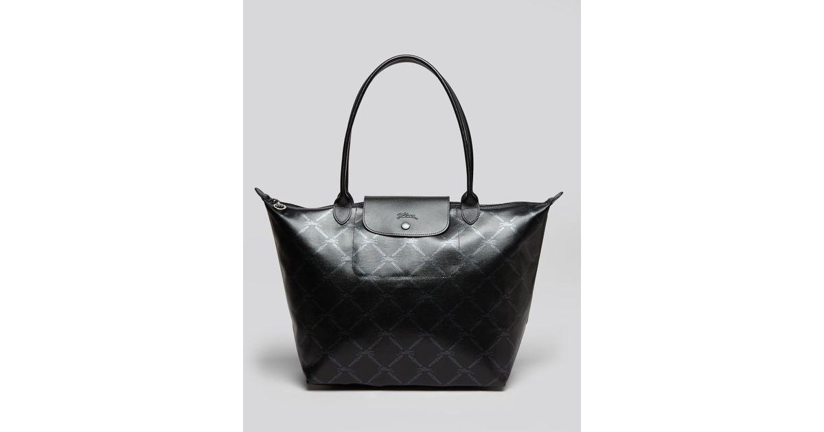 Lyst - Longchamp Lm Metal Large Shoulder Tote in Black 2b81b8130154f