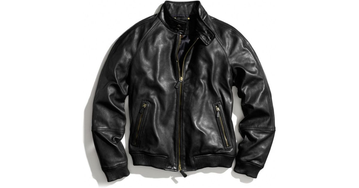 8deed1524bc Lyst Coach Bedford Leather Barracuda Jacket In Black For Men