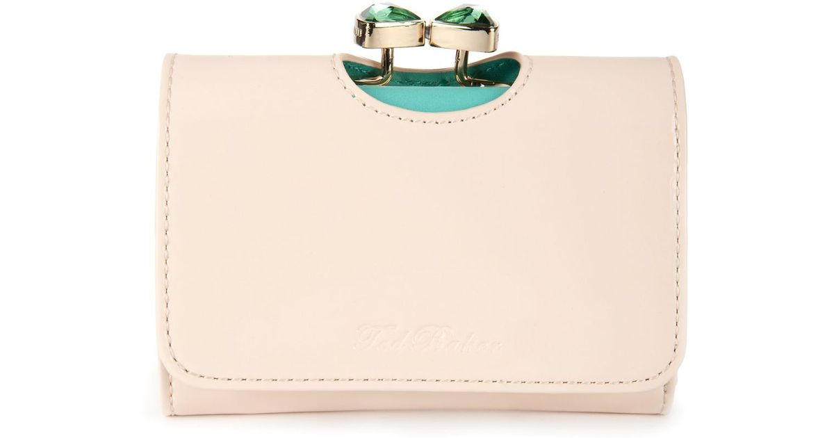 22b84827ba6a90 Ted Baker Tyro Patent Small Purse in Natural - Lyst
