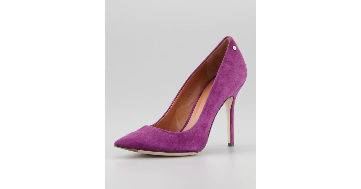 ca47f6a7913 Lyst - Rachel Roy Ava Suede Pointedtoe Pump in Purple