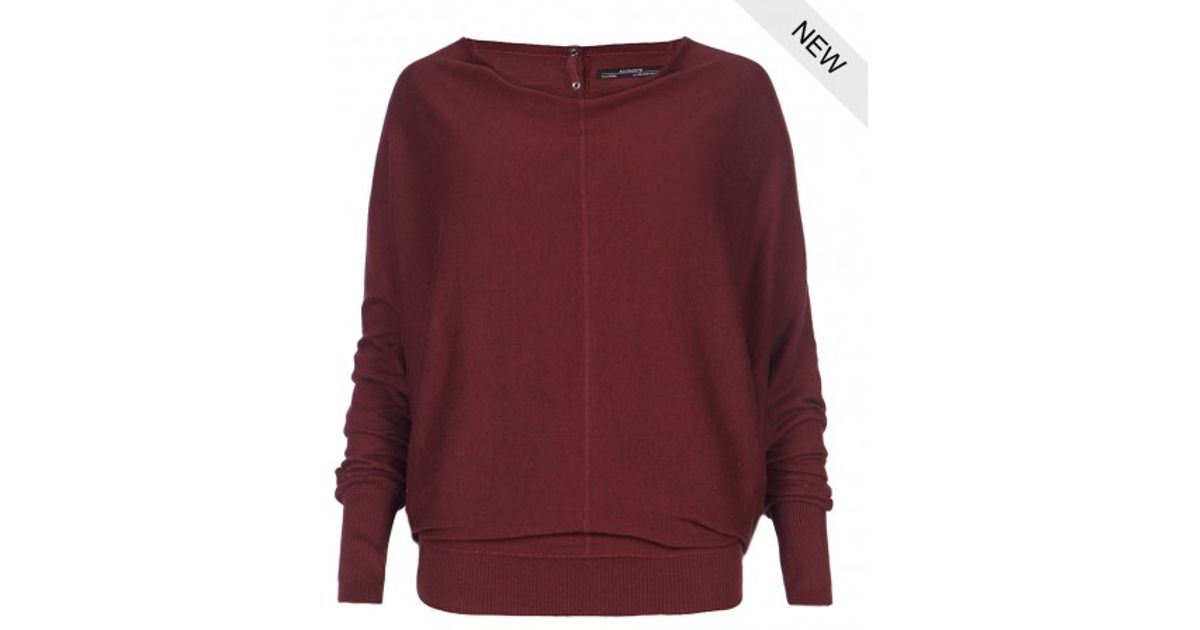 Allsaints Elgar Cowl Neck Sweater in Red | Lyst