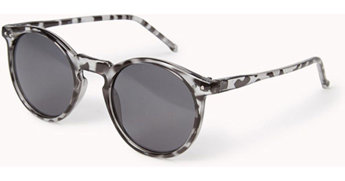Lyst - Forever 21 Tortoise Round Frame Sunglasses in Gray for Men