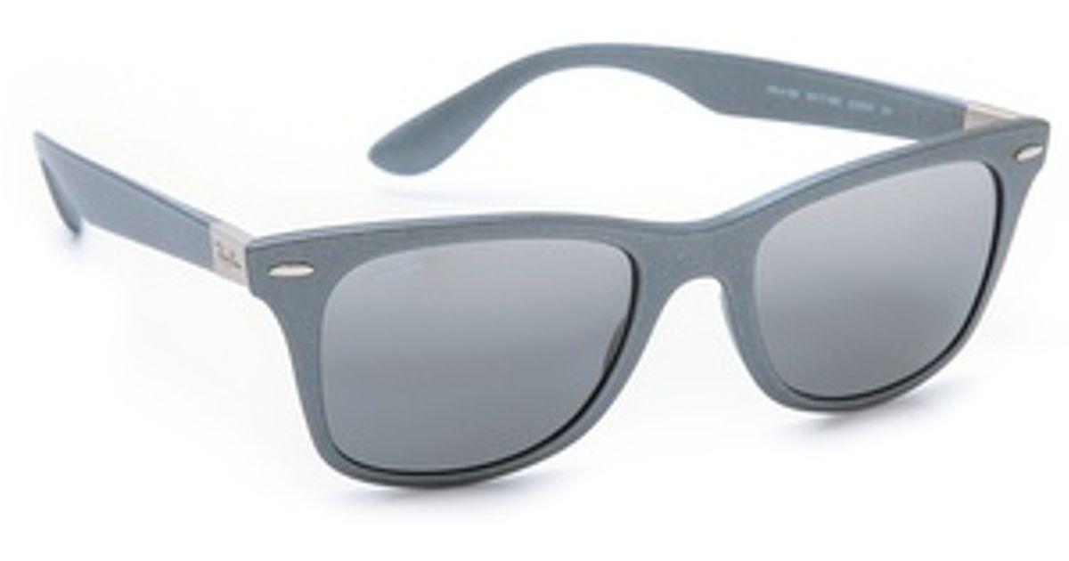 2ea2b551be Lyst - Ray-Ban Light Force Matte Wayfarer Sunglasses in Metallic