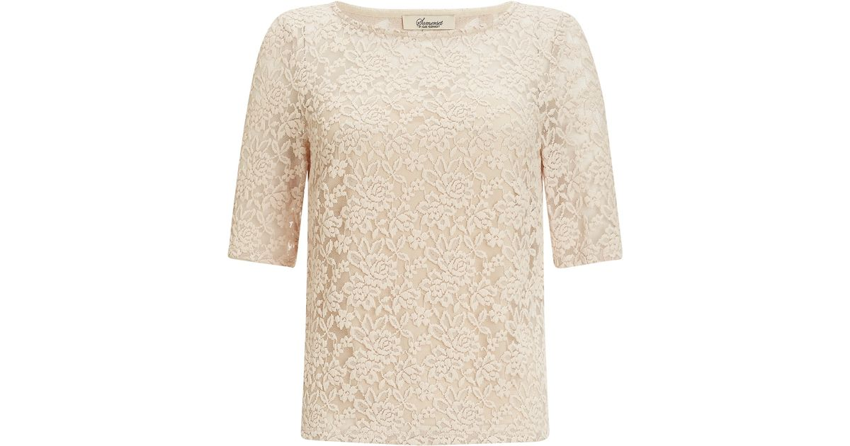 88bdcd370534f Somerset by Alice Temperley Lace Top in Natural - Lyst