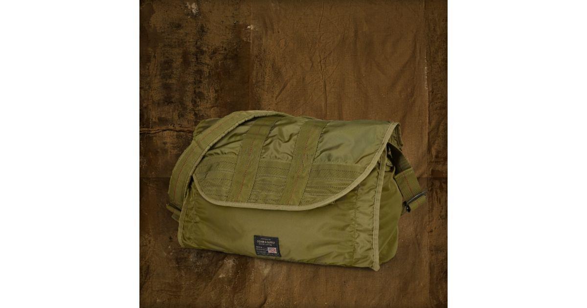 7ec001889bc24 Lyst - Denim   Supply Ralph Lauren Nylon Messenger Bag in Green for Men