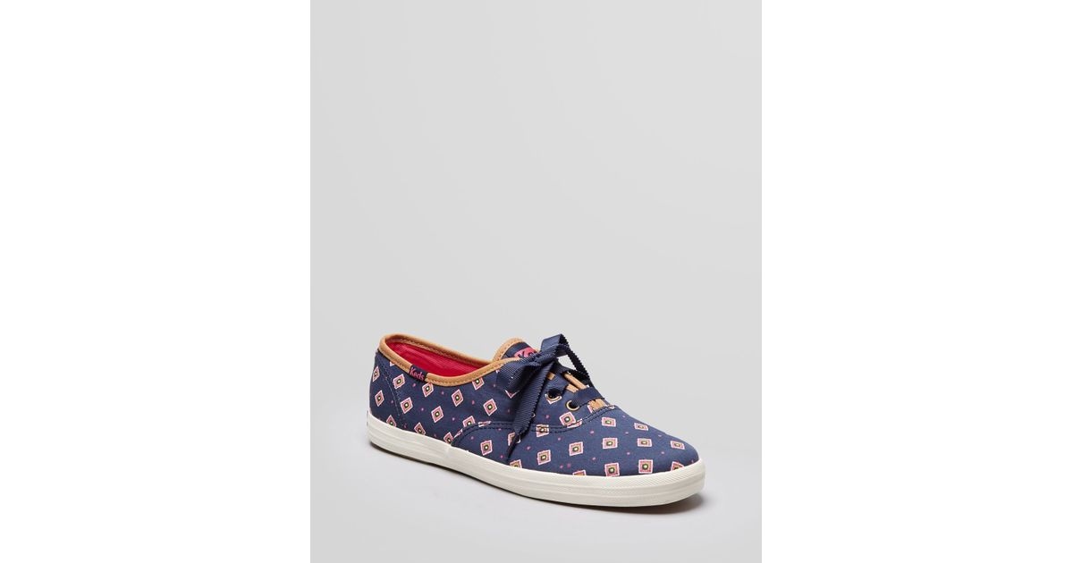 00c2cadec15 Lyst - Keds Lace Up Sneakers Champion Tie in Blue