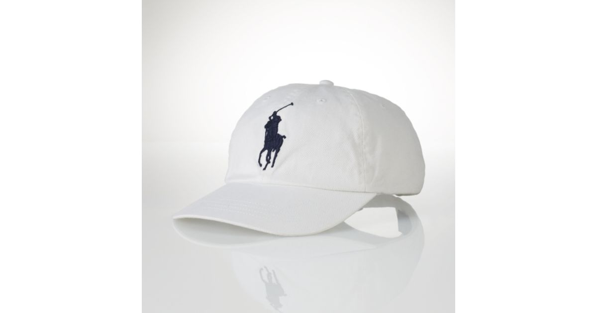 ... coupon code lyst polo ralph lauren wimbledon big pony sports cap in  white for men 1322e a91145289756