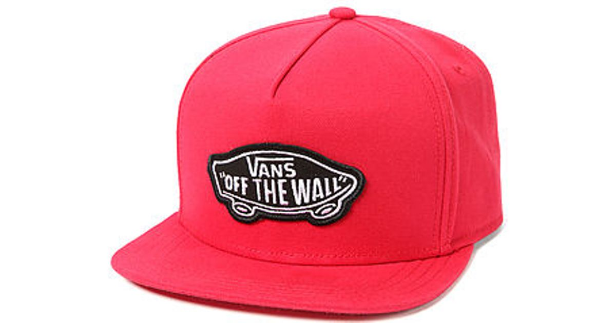 Lyst - Vans The Classic Patch Snapback Hat in Red for Men 79f184a9bee