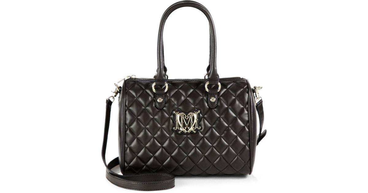 Lyst - Love Moschino Superquilted Borsa Manici Boston Bag in Black a932de52984