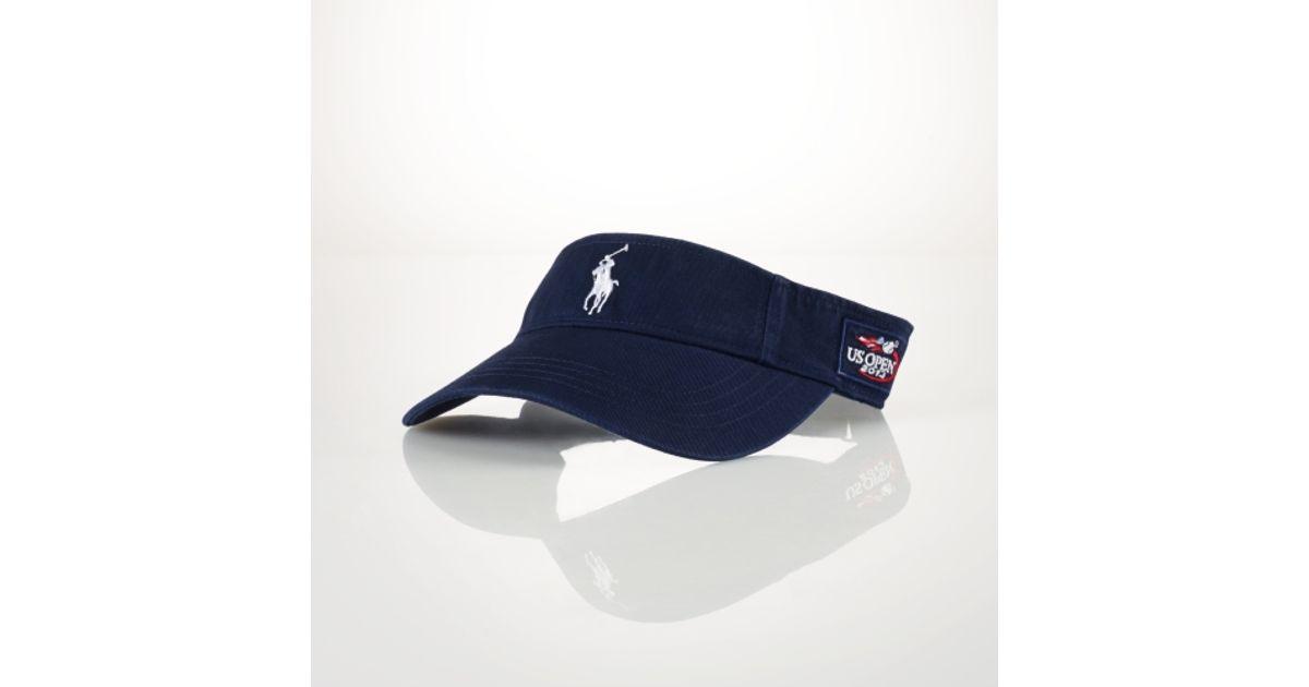 1d501fa9b38 Lyst - Polo Ralph Lauren Us Open Chino Sport Visor in Blue