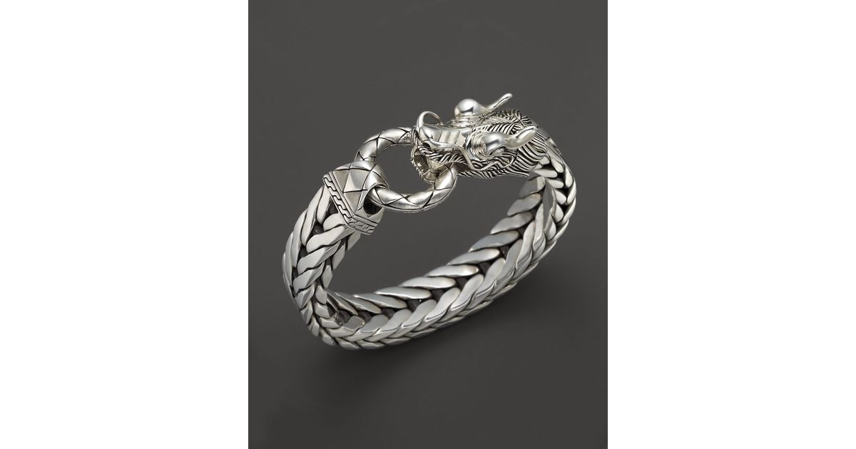John hardy men 39 s naga silver dragon head bracelet on for John hardy jewelry factory bali