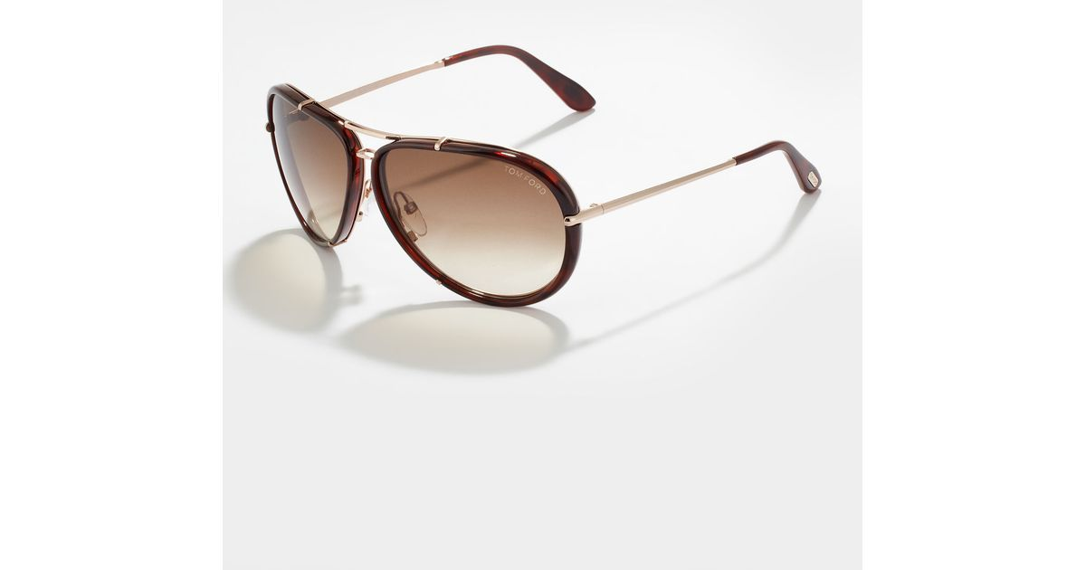 89de0c2cfc8ae Lyst - Tom Ford Cyrille Aviator Sunglasses Brown in Brown for Men