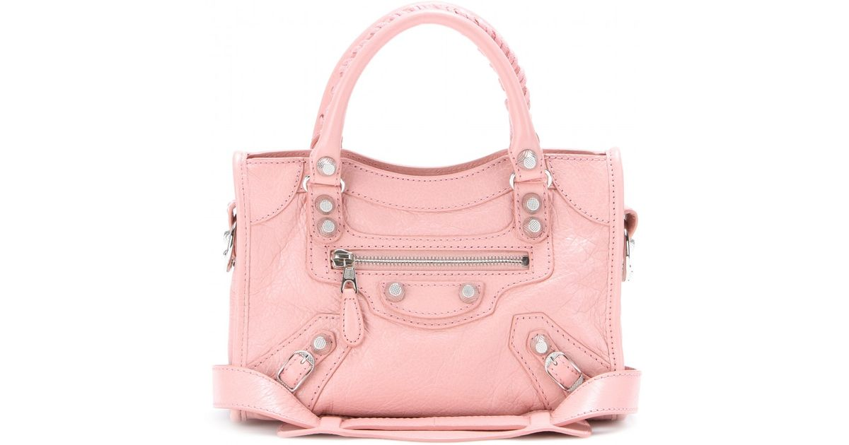 82cce778d6 Balenciaga Giant 12 Mini City Leather Bag in Pink - Lyst