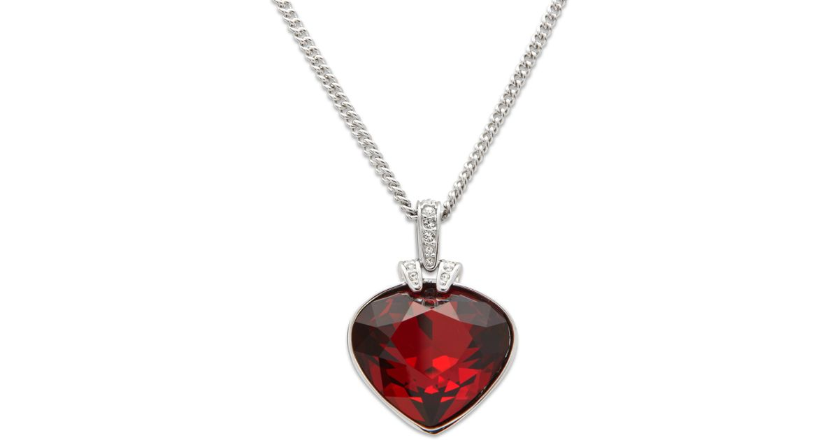 Lyst swarovski oceanic red crystal pendant in red aloadofball Gallery