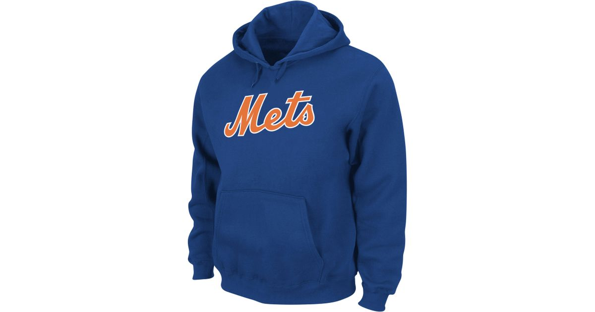 new concept edb8a 48f02 Majestic - Blue New York Mets Hoodie for Men - Lyst
