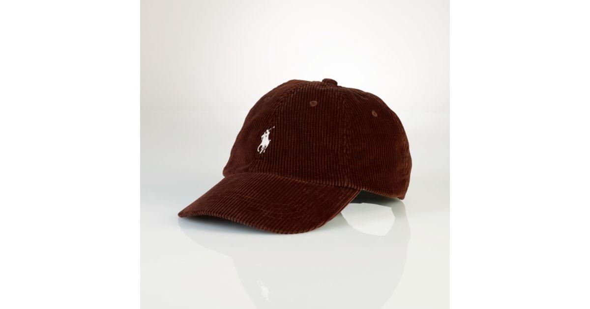 Lyst - Polo Ralph Lauren Corduroy Sports Cap in Red for Men 131665267e7
