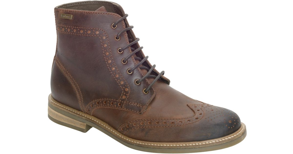 834386a19f0 Barbour - Brown Belsay Leather Brogue Boots for Men - Lyst