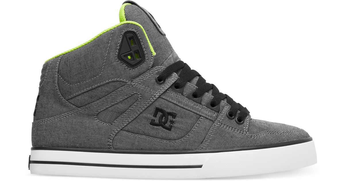 12c026e19c77 Lyst - DC Shoes Spartan Hi Wc Tx Se Sneakers in Gray for Men