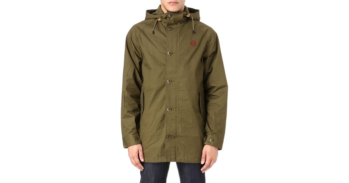 Fred perry Fishtail Parka Jacket in Green for Men | Lyst