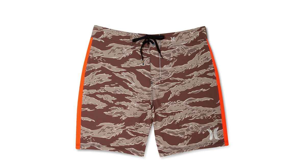 002c6ce26e Hurley Phantom 30 Flammo Tiger Boardshorts in Brown for Men - Lyst