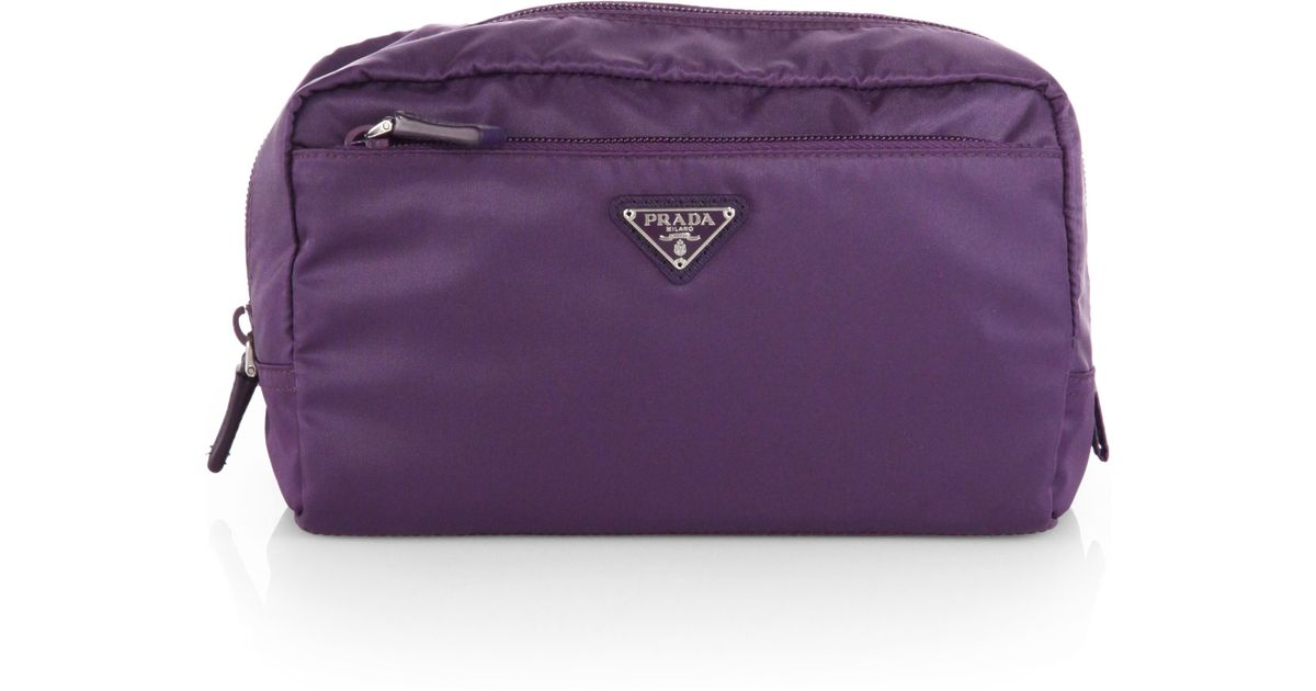 Prada Vela Extra Large Nylon Cosmetics Case in Purple (VIOLA) | Lyst