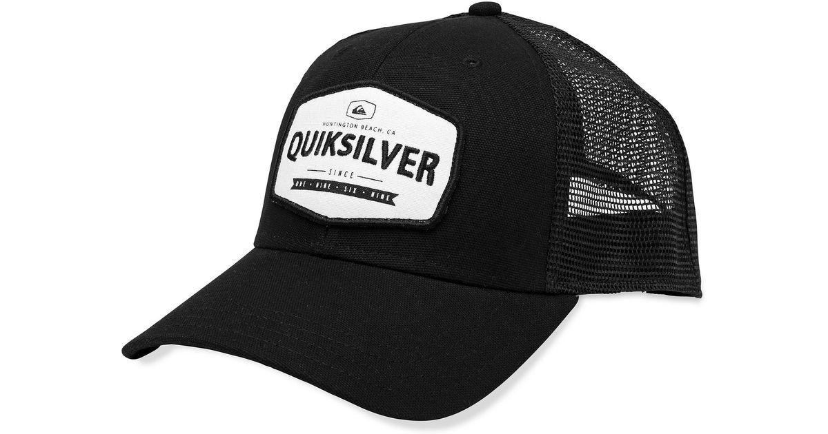 28c52ebc639 Lyst - Quiksilver Please Hold Patch Trucker Hat in Black for Men