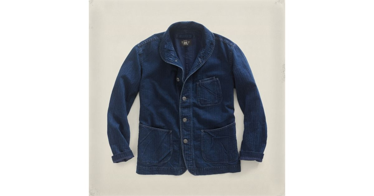 9bb0a2fdc6 Lyst - RRL Redon Coat in Blue for Men