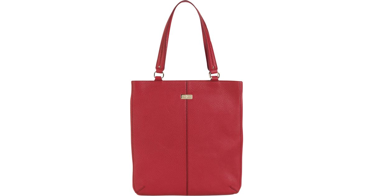 50422c12b6 Cole Haan Village Flat Tote Bag Cherry in Red - Lyst
