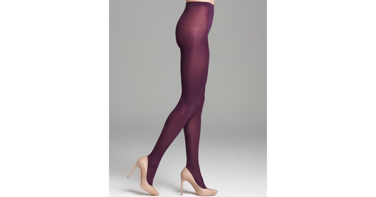 a0d18ed73730a Hue Opaque Tights Sheer To Waist in Purple - Lyst