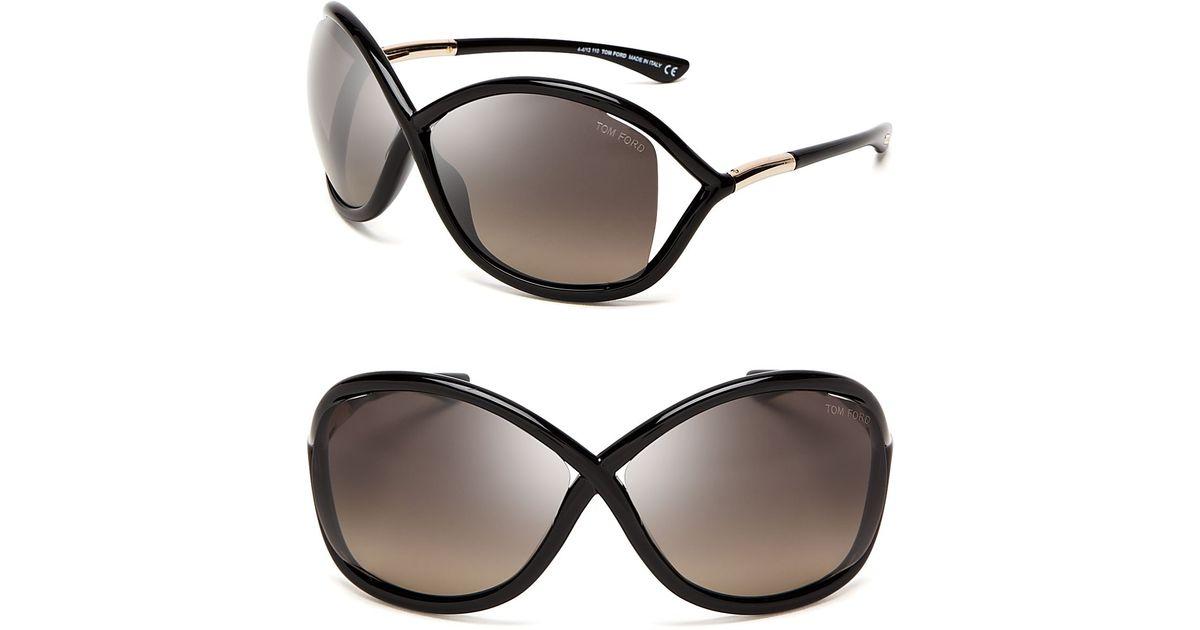 ac25b7612dd Lyst - Tom Ford Whitney Polarized Sunglasses in Black