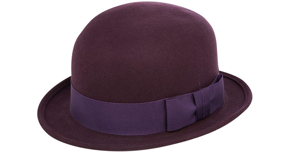Lyst - Christys  Purple Mabel Trilby Hat in Purple d76076b7086