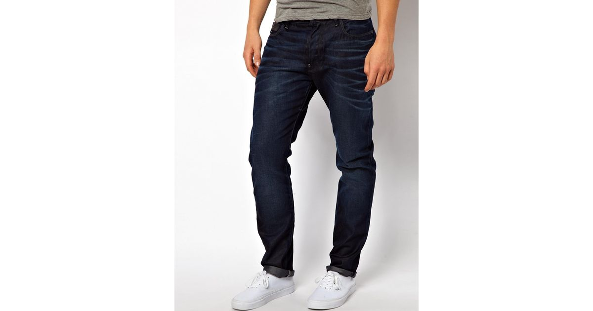 f594347aeb2 G-Star RAW G Star Jeans Blades Tapered Cinch Back Dark Aged in Blue for Men  - Lyst
