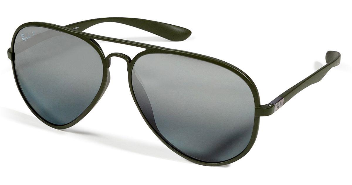 3cd2f49670a ... sweden lyst ray ban matte green liteforce aviator tech polarized  sunglasses in green b8ec8 01142 ...