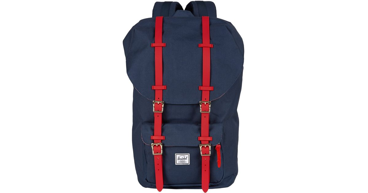 8ccd09bf671 Herschel Supply Co. Navy Little America Rubber Backpack in Blue for Men -  Lyst