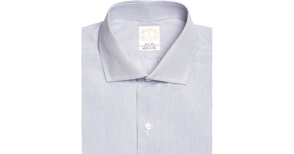 Brooks brothers golden fleece madison fit french cuff for Small collar dress shirt