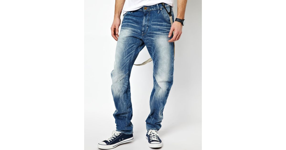 37562dcdac1 G-Star RAW G Star Jeans Arc 3d Loose Tapered with Braces Medium Aged in  Blue for Men - Lyst