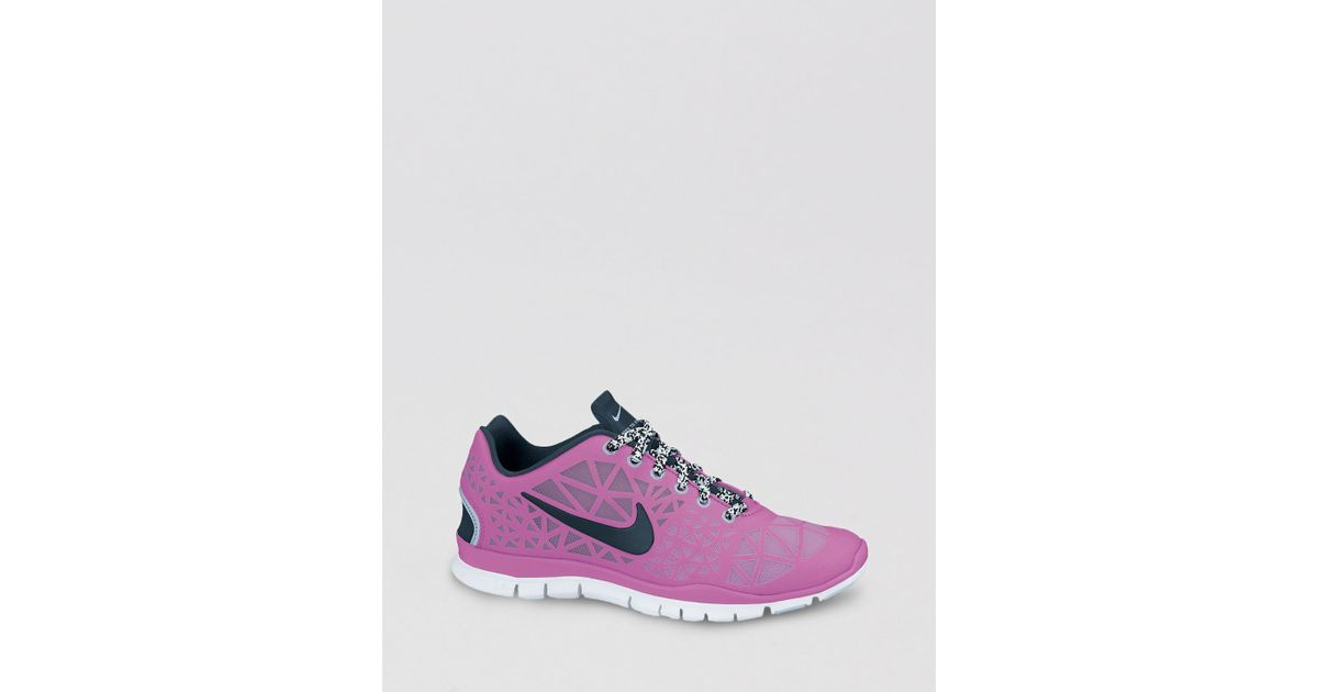 lowest price 8f017 9cd6e Nike Lace Up Sneakers Womens Free Tr Fit 3 in Pink - Lyst
