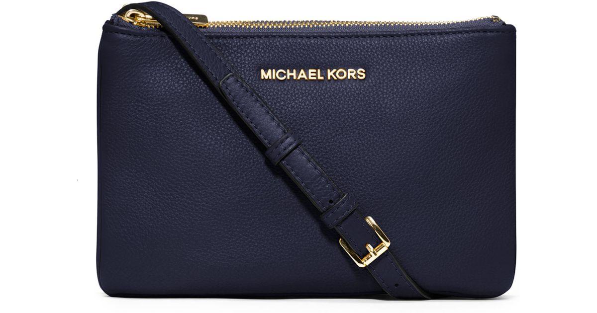 bbc486304a3 Lyst - MICHAEL Michael Kors Bedford Gusset Crossbody Bag in Blue