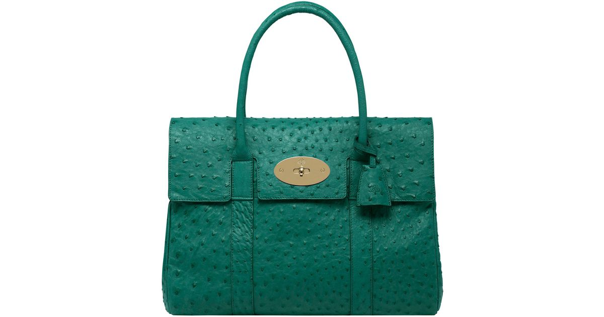 1e02222381 Lyst - Mulberry Bayswater in Green