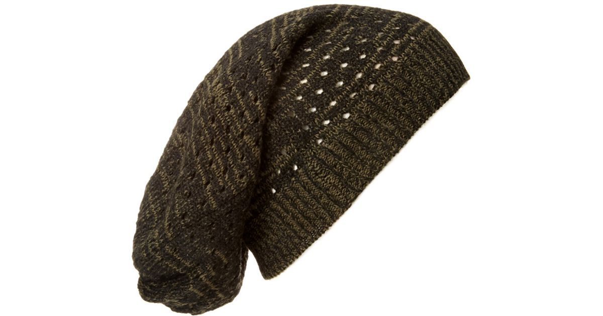 Lyst - Forever 21 Marled Open-Knit Beanie in Black for Men 6baaa068713