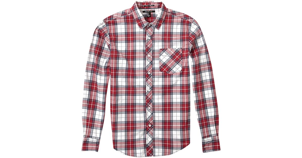 e042612e4b60 Lyst - Forever 21 Classic Fit Plaid Shirt in Red for Men