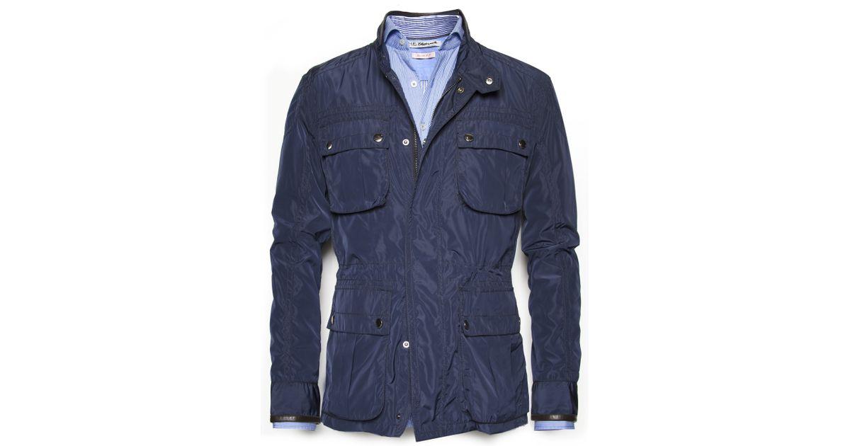 Lyst Mango Technical Field Jacket In Blue For Men