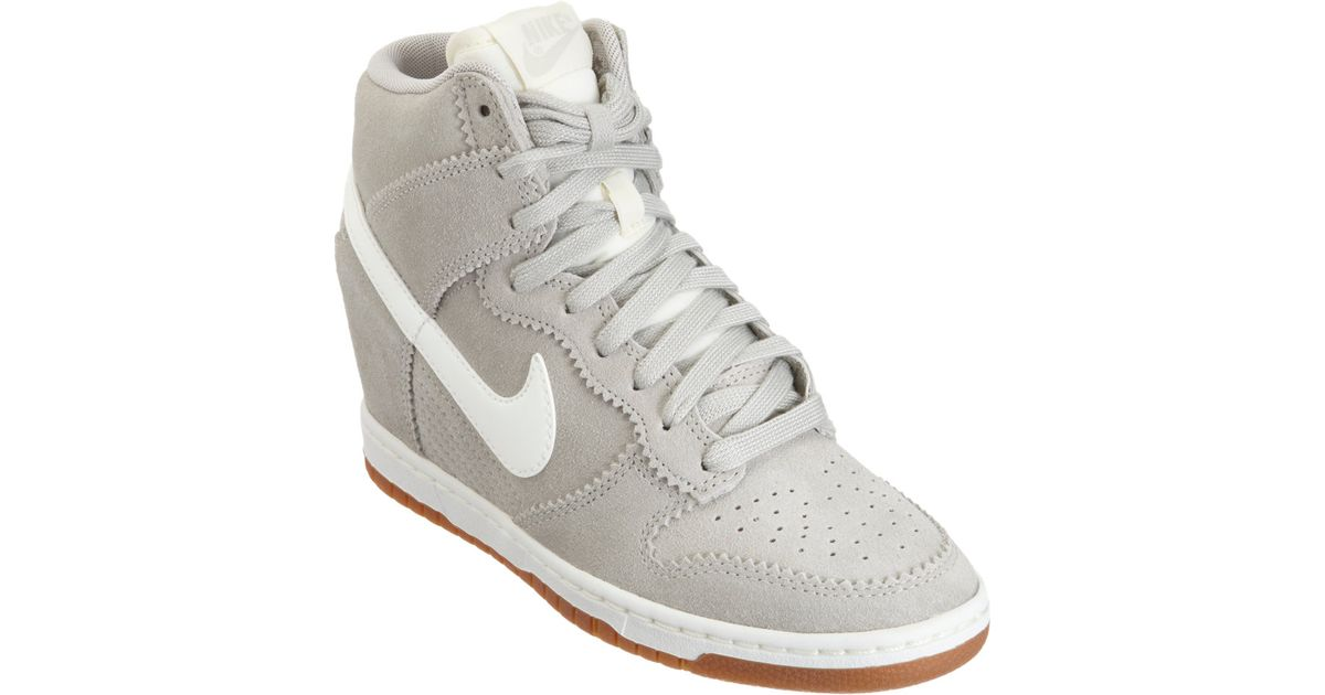 reputable site 6bf19 a5c46 Nike Dunk Sky Hi in White - Lyst