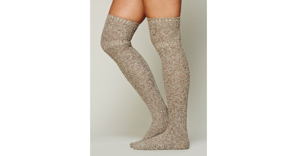 96d58586e Free People Cozy Sweater Tall Sock in Brown - Lyst