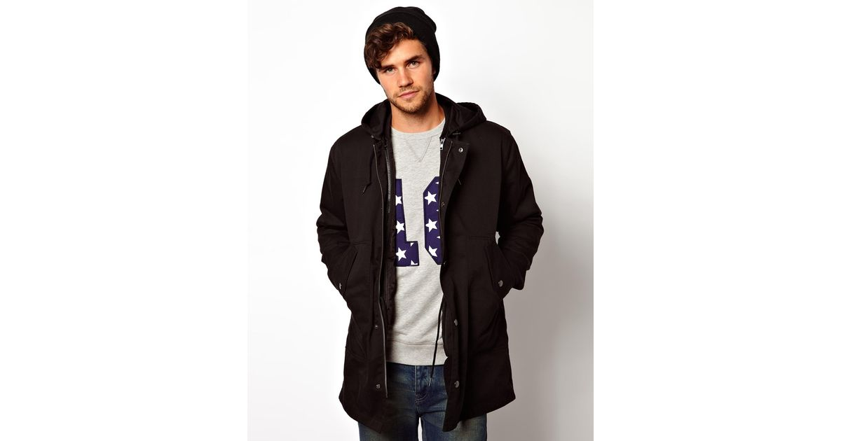 Asos 2 In 1 Fishtail Parka - Black in Black for Men | Lyst