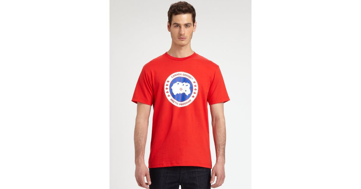 red canada goose t shirt