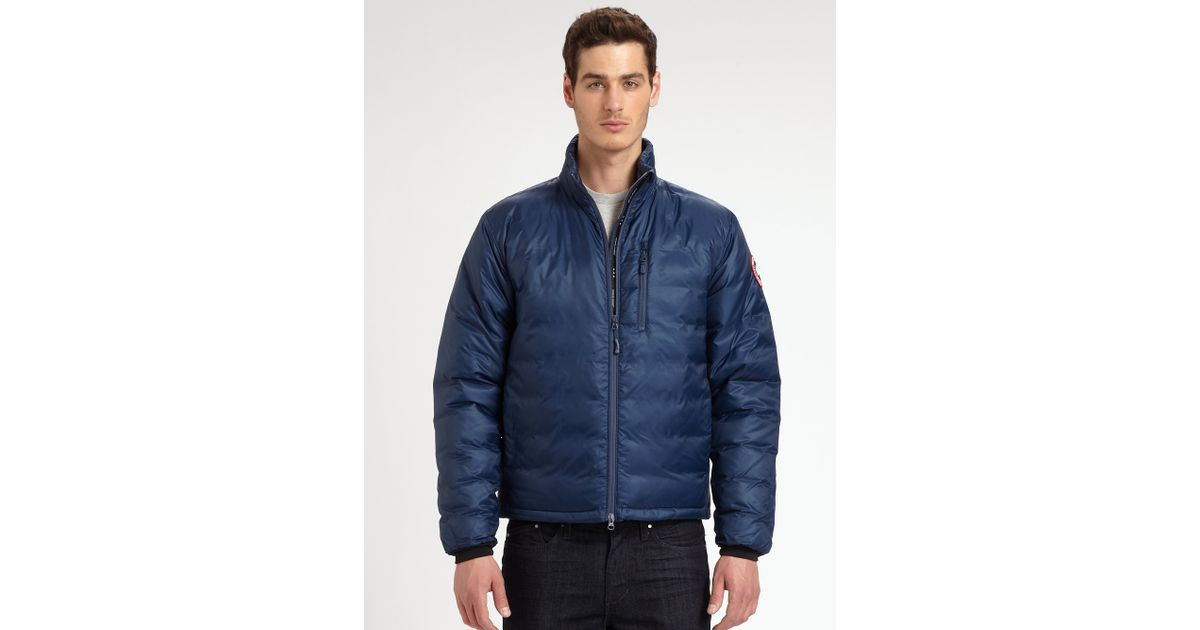 Canada Goose coats outlet price - Canada goose Lodge Down Jacket in Blue for Men (SPIRIT) | Lyst