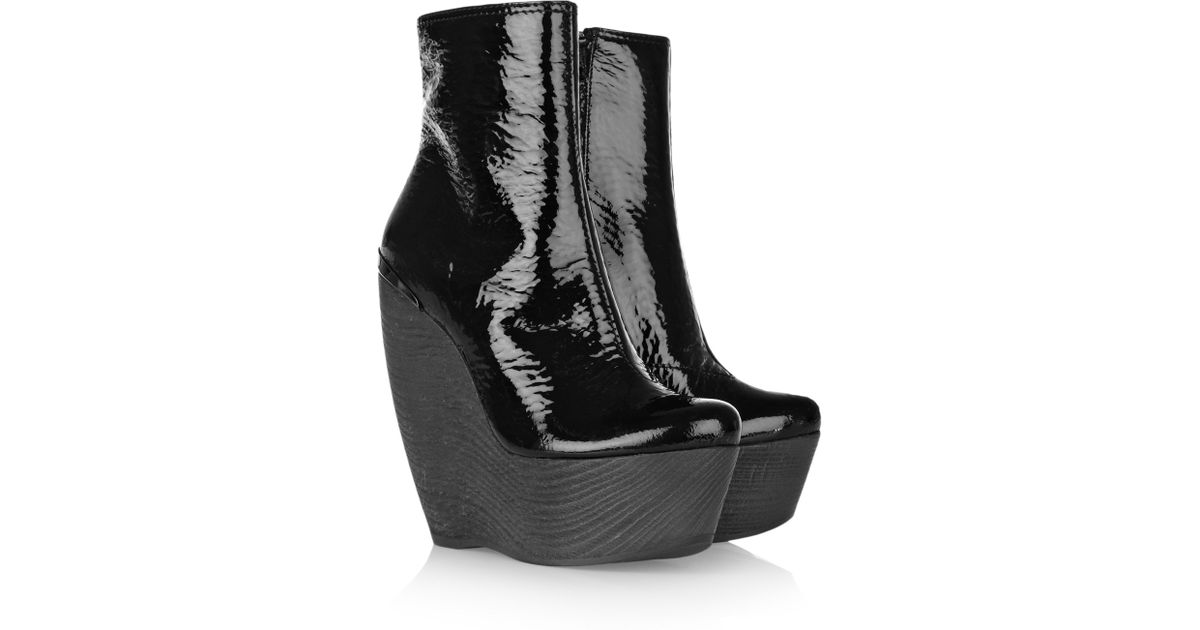 Lanvin Patent Leather Ankle Boots
