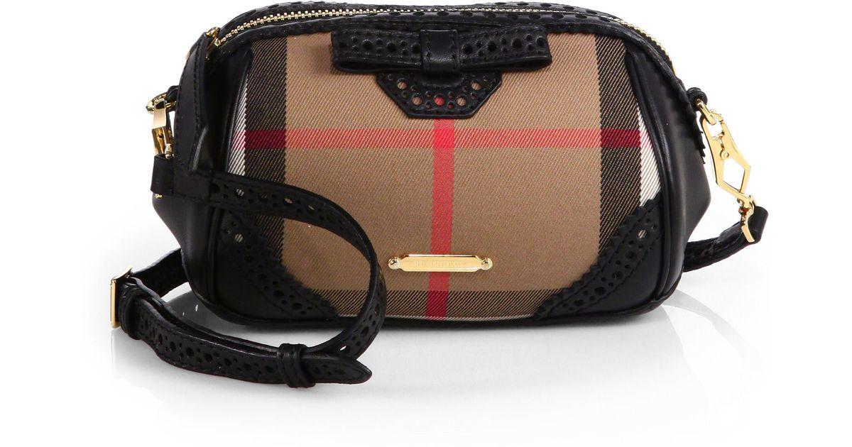 78b9a89250cf Lyst - Burberry Blaze Haymarket Mixedmedia Crossbody Bag in Brown